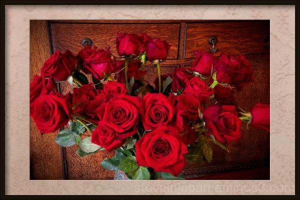 Valentine's Day roses.