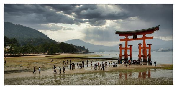 The O-Torii Gate at Itsukushima Shrine.