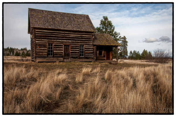 A cabin at Conboy Lake National Wildlife Refuge.