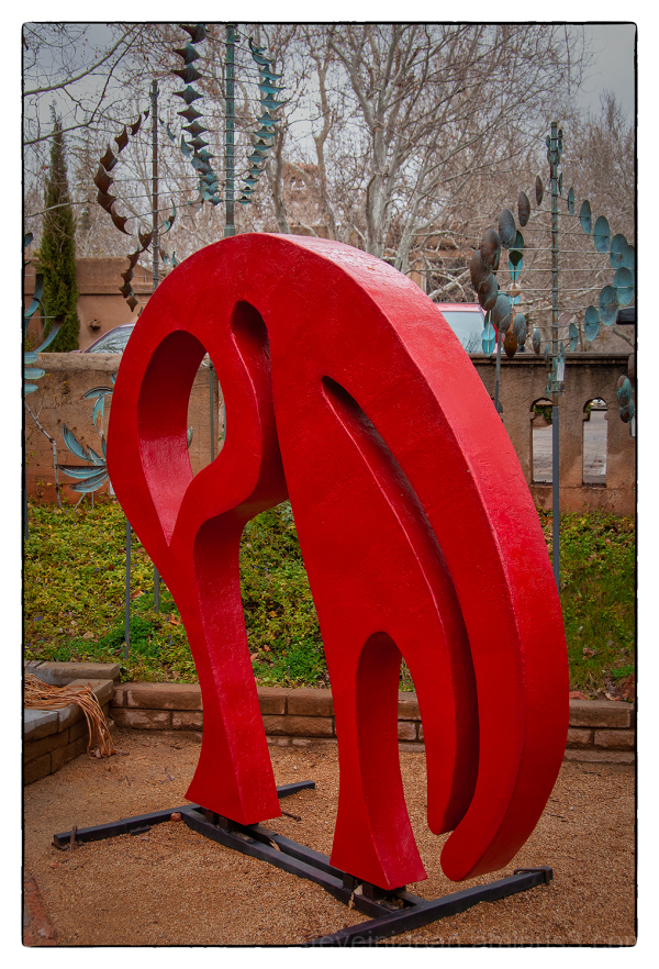A red sculpture in Sedona, AZ.