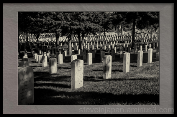 The Santa Fe National Cemetery.