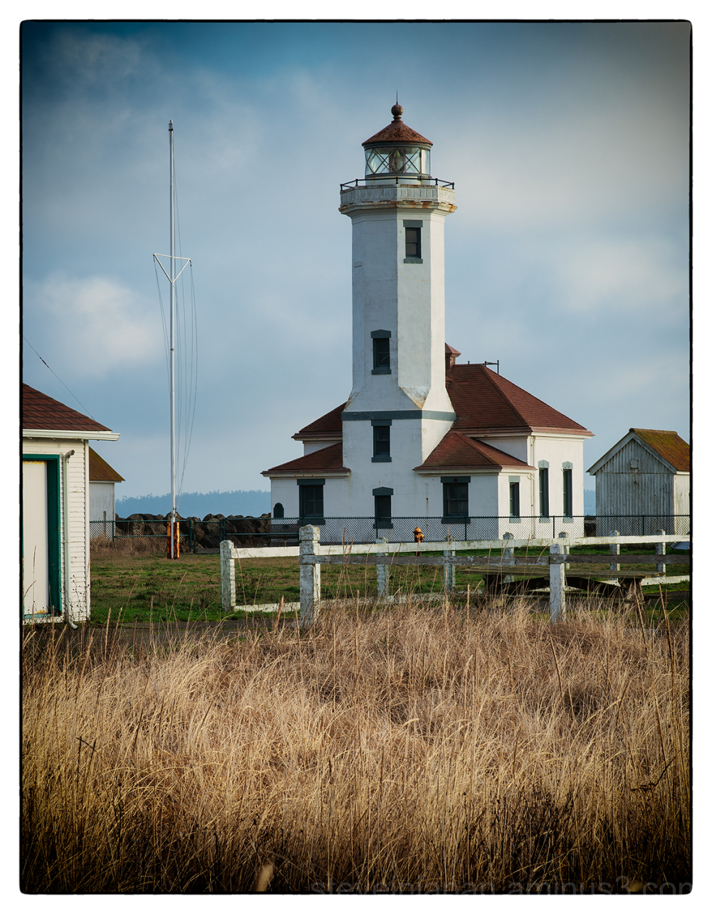 The Point Wilson lighthouse in Port Townsend, WA.