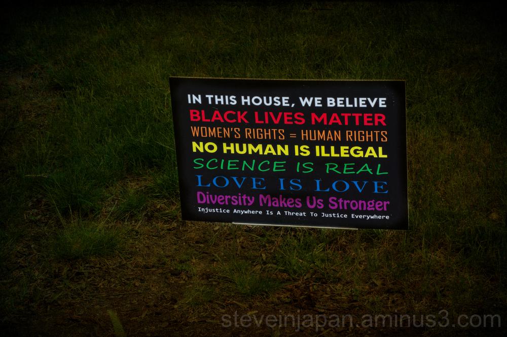 An sign seen on a walk.