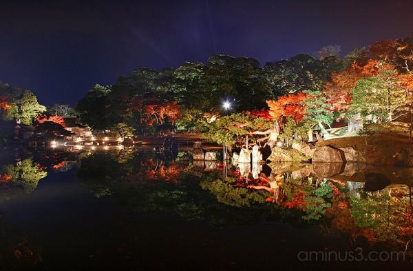 Genkyuen Japanese Garden Night