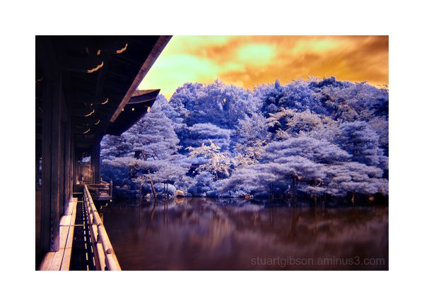 Infrared image of Hein Shrine, Kyoto