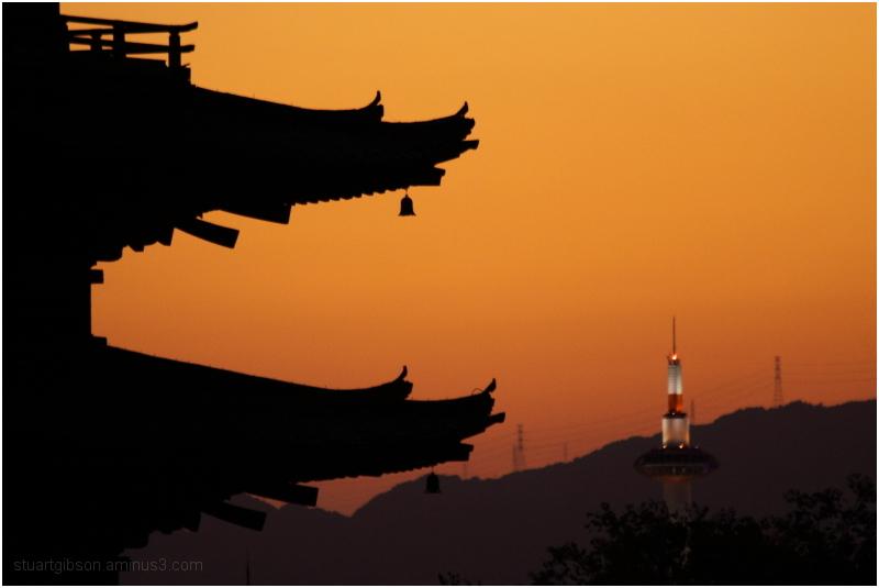 Autumn sunset, Houkanji - 法観寺