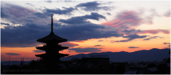 Winter Sunset, Houkanji   法観寺
