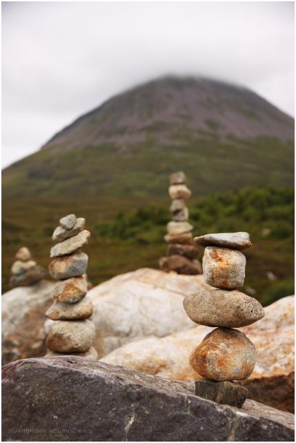 Balancing stones: Sligachan, Skye