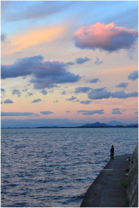 enjoying the view, Lake Biwa