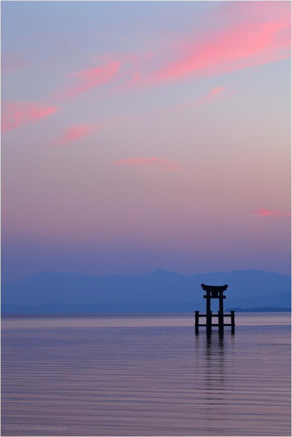 Golden Hour: Shirahige Shrine, Lake Biwa