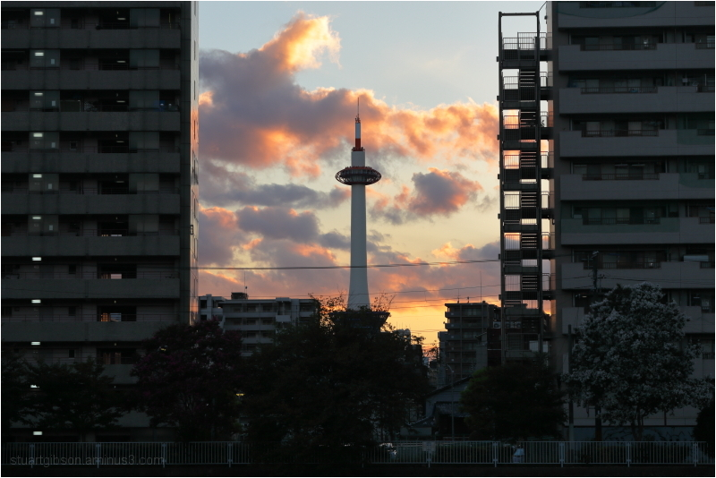 Kyoto Tower, at Golden Hour