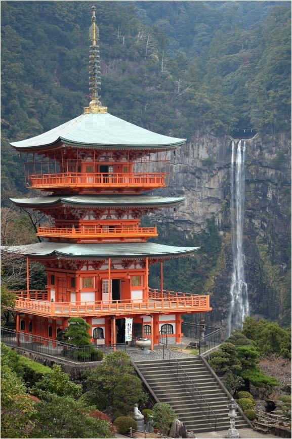 Nachi Shrine and waterfall