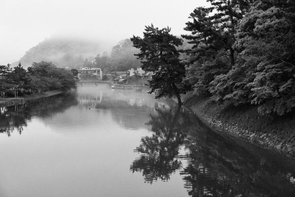 Uji City in the mist