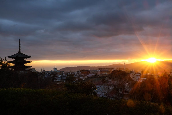 last light over Kyoto