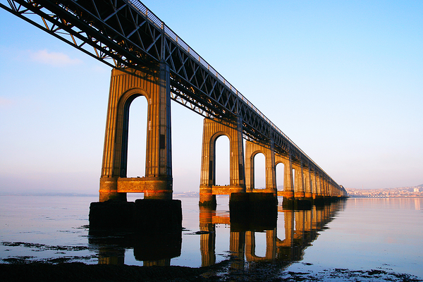 The Tay Bridge at golden-hour