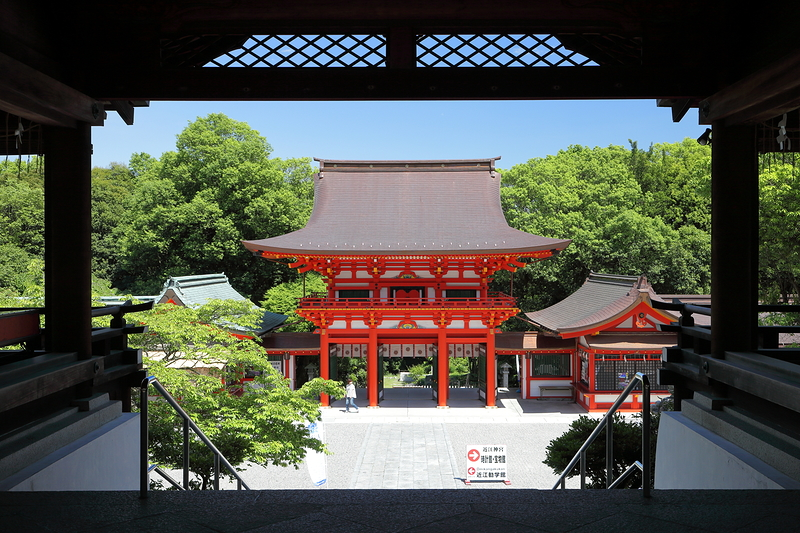 another slow day, at Ohmi Shrine