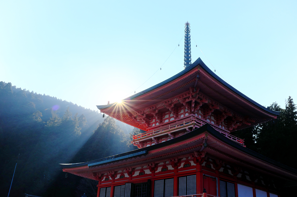 winter sun at Enryakuji