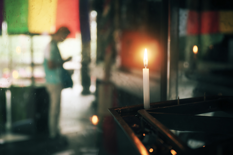 candlelight and prayer