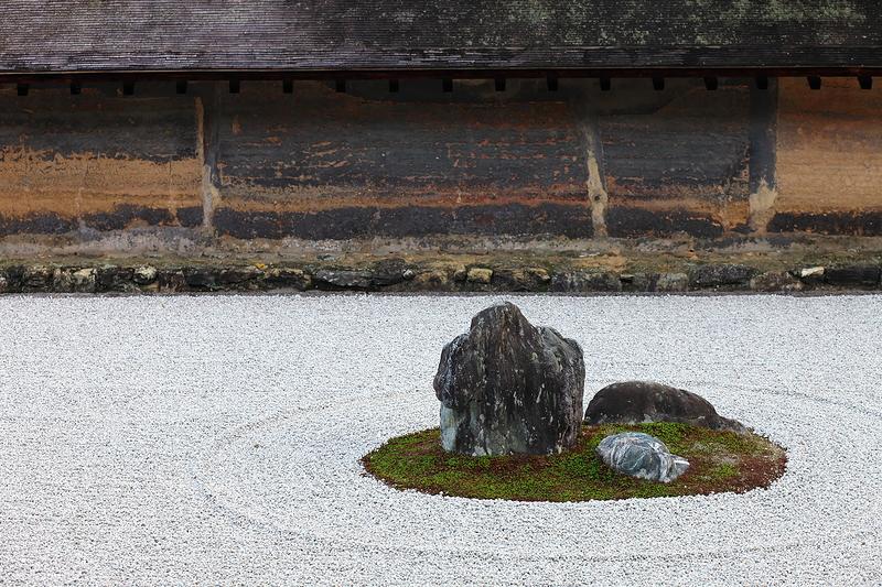 the rocks of ryoanji