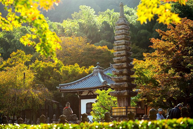 the pagoda at Adashino Nenbutsuji