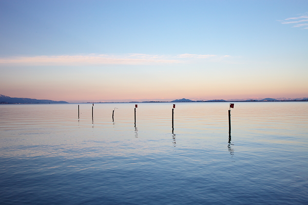 pastel tones on lake biwa