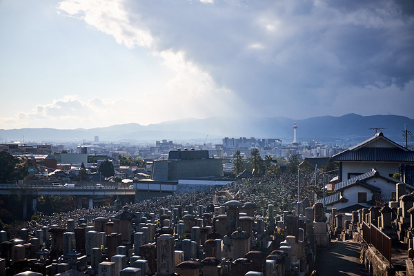 View of Kyoto tower from Kiyo Mizu
