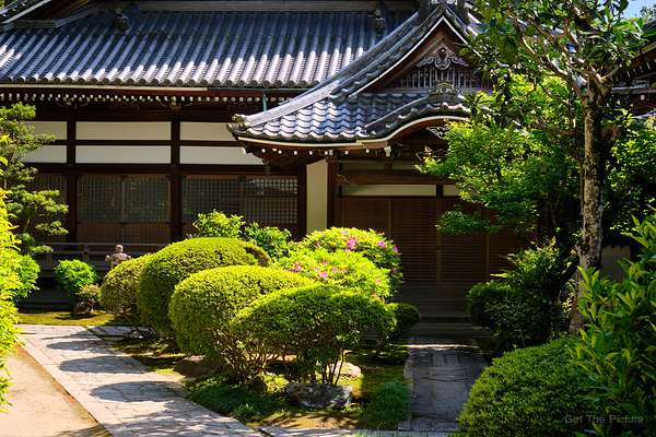 Spring greens at Chion-in