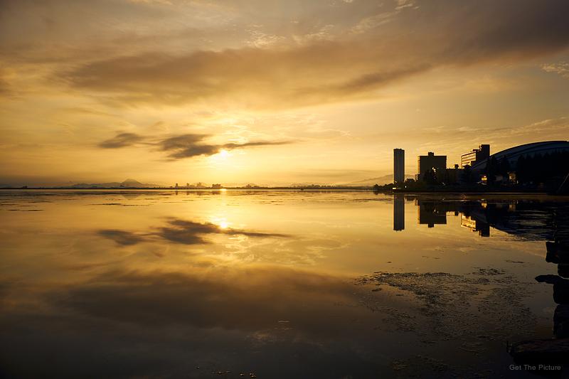 sunrise over Lake Biwa