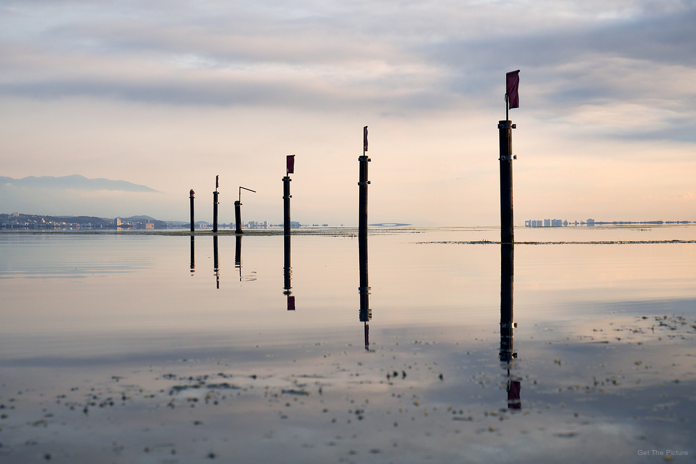 a calm morning on Lake Biwa