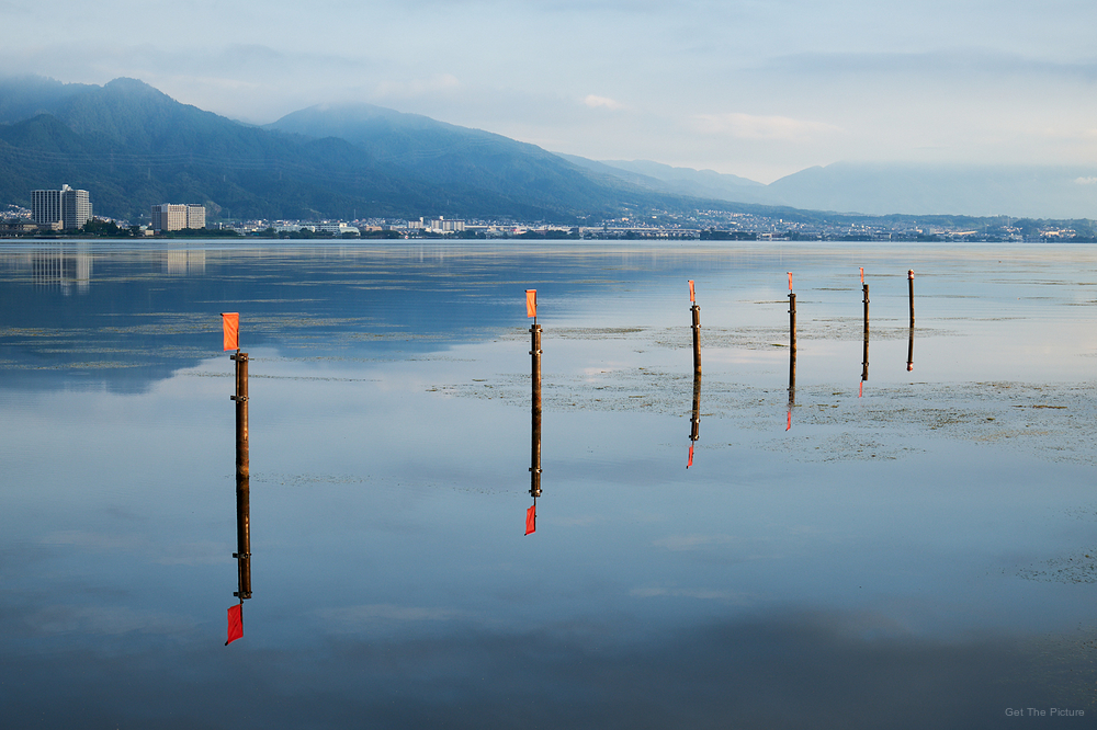 total calm on Lake Biwa