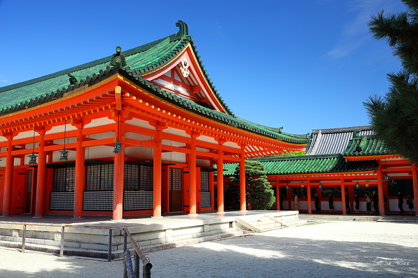 a not so quiet corner of Heian Shrine