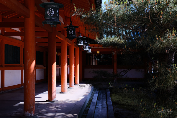 the sacred hallways of Heian Shrine