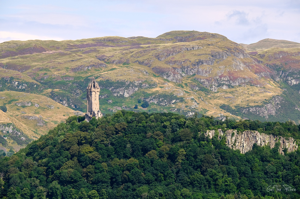 The Wallace Monument, taken from Stirling Castle