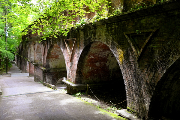 the famous old aqueduct at Nanzenji