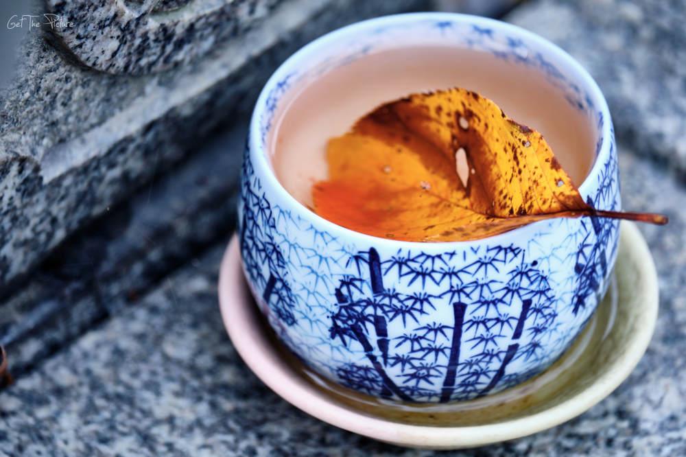 autumn leaf tea