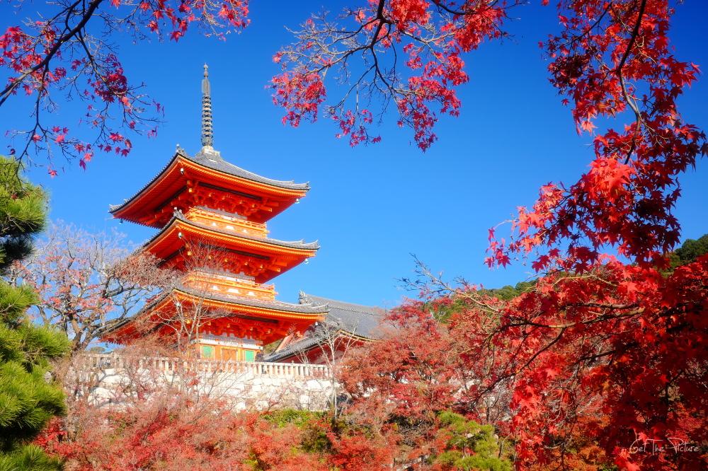 Autumn colours at Kiyo Mizu Dera