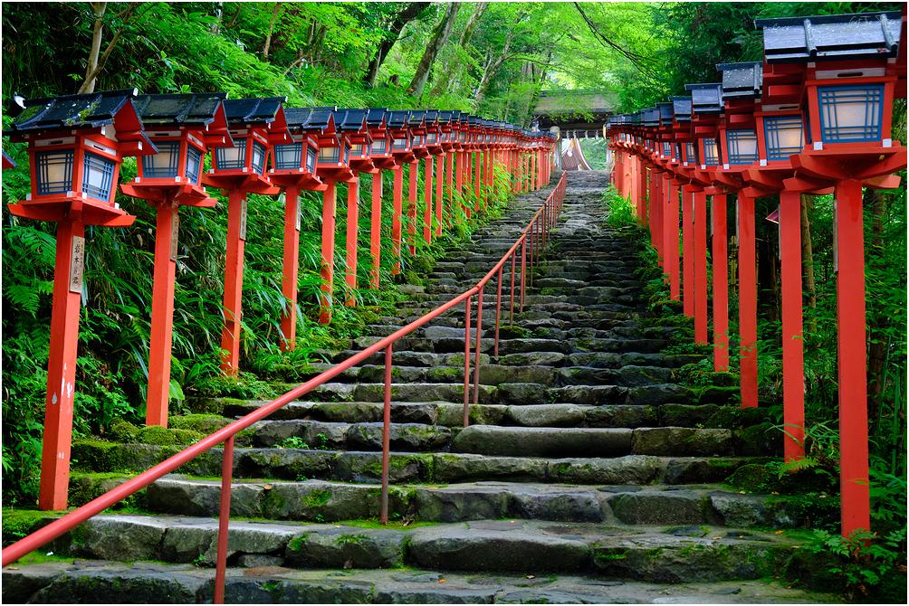 The entrance to Kifune Shrine