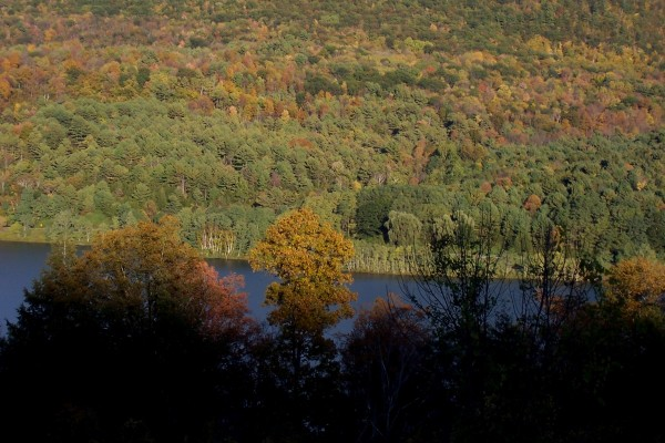 View across Scoharie Reservoir, Blenheim, NY