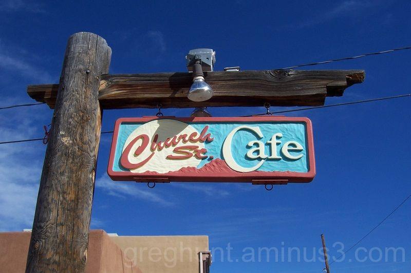Church Street Cafe sign