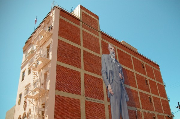 Man on the wall.