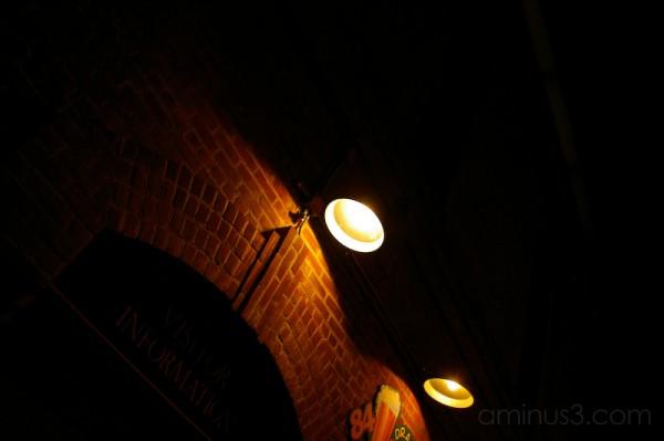 Brick in the dark