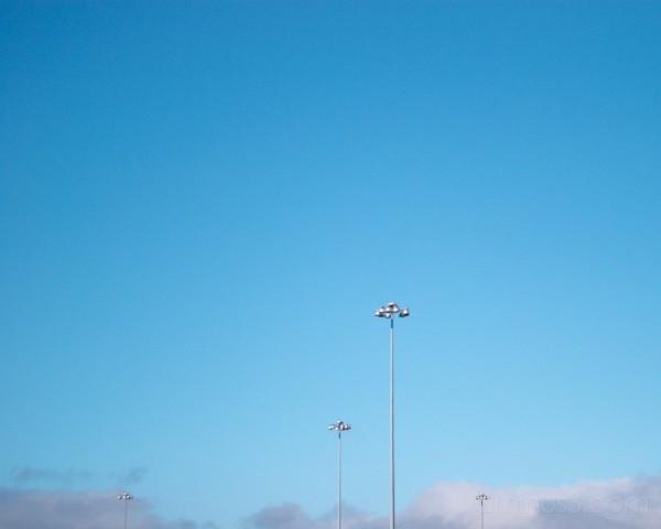 Light pole in the sky