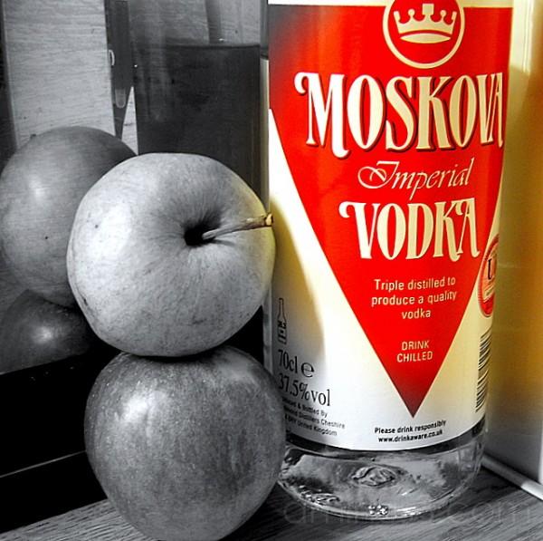 apples vodka supper