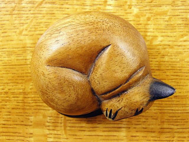 cat wooden