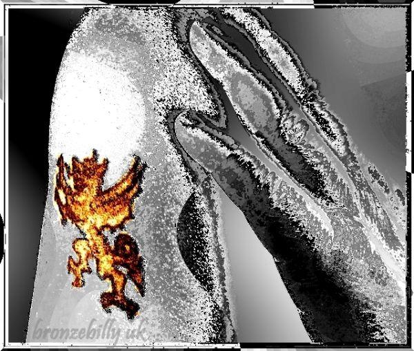 tatoo Welsh Dragon bronzebilly