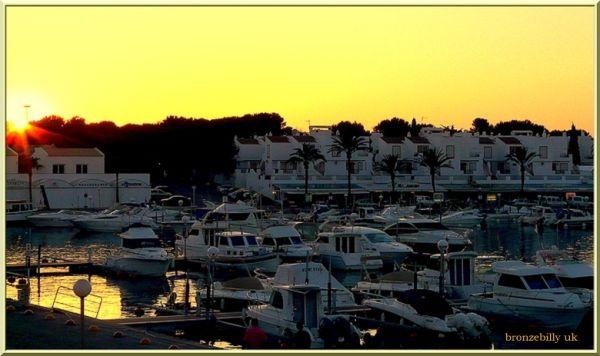 apartment view Menorca evening bronzebilly