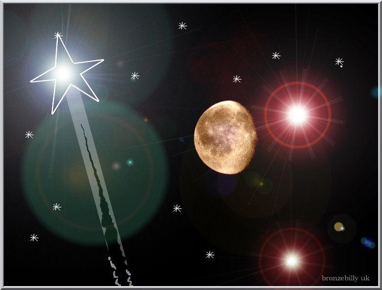 shootingstars meteorites  moon bronzebilly