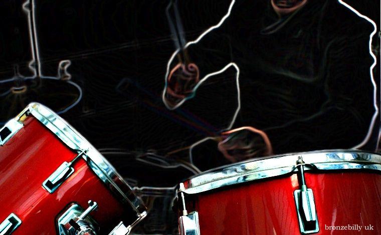 drumms drummer electric neon filter bronzebilly