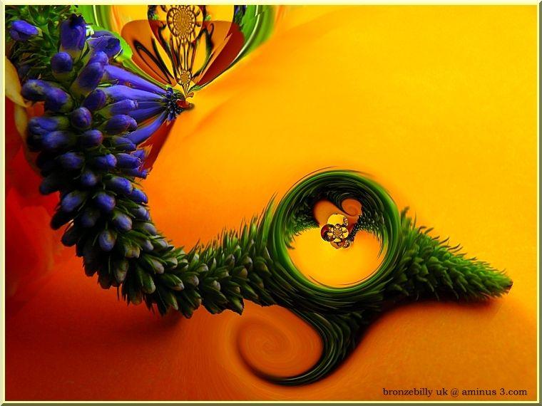 abstract flower warp filter bronzebilly