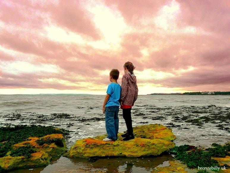 sea rocks sky colours bronzebilly